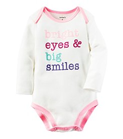 Carter's® Baby Girls' Big Smiles Bodysuit