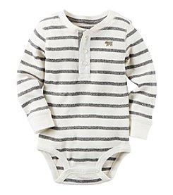 Carter's® Baby Boys' Striped Henley Bodysuit