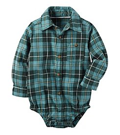 Carter's® Baby Boys' Collared Plaid Bodysuit