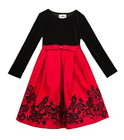 Rare Editions® Girls' 7-16 Long Sleeve Embellished Dress