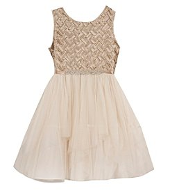 Rare Editions® Girls' 7-16 Basketweave Hi-Lo Dress