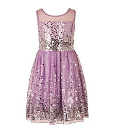 Speechless® Girls' 7-16 Illusion Scatter Sequin Dress