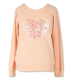 Speechless® Girls' 7-16 Sequin Heart Sweatshirt