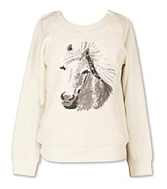 Speechless® Girls' 7-16 Sequin Horse Sweatshirt