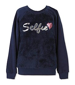 Speechless® Girls' 7-16 Sequin Selfie Sweatshirt