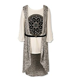 Speechless® Girls' 7-16 Belted Medallion Tee with Duster