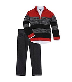 Nautica® Boys' 2T-7 3-Piece Sweater Set