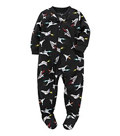 Carter's® Boys' One Piece Fleece Allover Rockets Sleeper