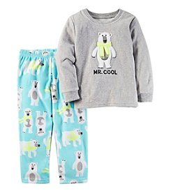 Carter's® Boys' 12M-12 Fleece 2-Piece Mr. Cool Pajama Set