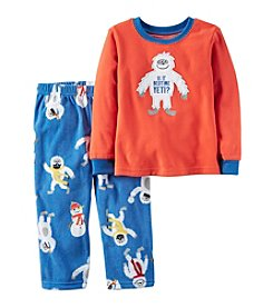 Carter's® Boys' 12M-12 Fleece 2-Piece Bedtime Yeti Pajama Set