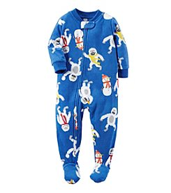 Carter's® Boys' One Piece Fleece Allover Yeti Sleeper