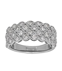 1 Ct. T.W. Diamond Ring In 10K White Gold
