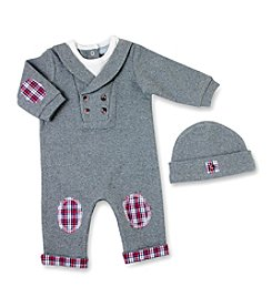Wendy Bellissimo Baby Boys' Shawl Collar Coverall with Hat