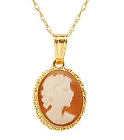 Cameo Pendent In 14K Yellow Gold