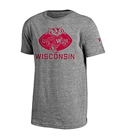 Under Armour® NCAA® Wisconsin Badgers Boys' Iconic Bucky Badger Short Sleeve Tee