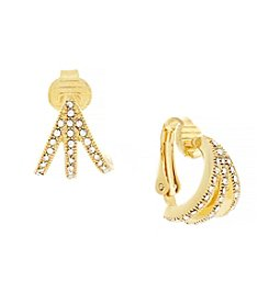 Vince Camuto™ Goldtone Clip Earrings
