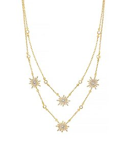 Vince Camuto™ Goldtone Double Layer Sunburst Necklace