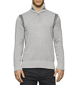 Calvin Klein Jeans® Men's Speckle Plated 1/4 Zip Sweater
