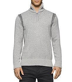Calvin Klein Jeans® Men's Speckle Plated 1/4 Zip Sweater