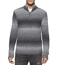 Calvin Klein Jeans® Men's Space Dyed 1/4 Zip Sweater