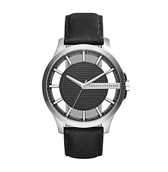 AX Armani Exchange Men's Stainless Steel Leather Two Piece Strap Watch