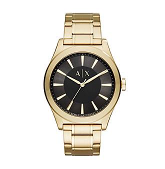 AX Armani Exchange Goldtone Sunray Y-Link Bracelet Watch