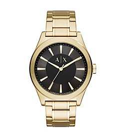 A|X Armani Exchange Goldtone Sunray Y-Link Bracelet Watch