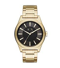 A|X Armani Exchange Goldtone Sunray Y-Link Bracelet Watch