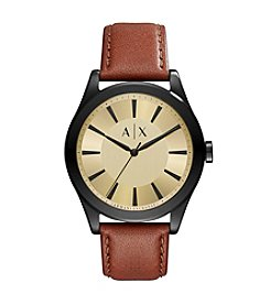 A|X Armani Exchange Stainless Steel Sunray Leather Two Piece Strap Watch