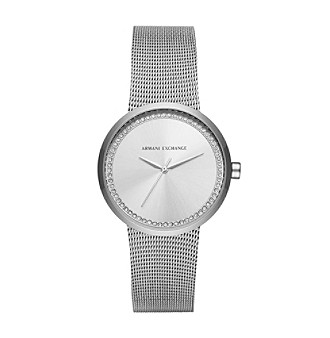 AX Armani Exchange Stainless Steel Mesh Bracelet Watch