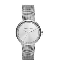 A|X Armani Exchange Stainless Steel Mesh Bracelet Watch