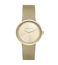 A|X Armani Exchange Stainless Steel Sunray Mesh Bracelet Watch