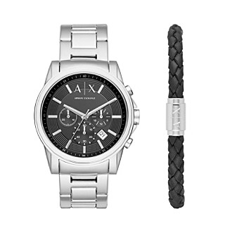 AX Armani Exchange Stainless Steel H-Link Bracelet Watch