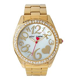 Betsey Johnson® Heart Hour Marker Watch