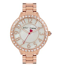 Betsey Johnson® Simple Crystal Bezel & Bracelet Watch