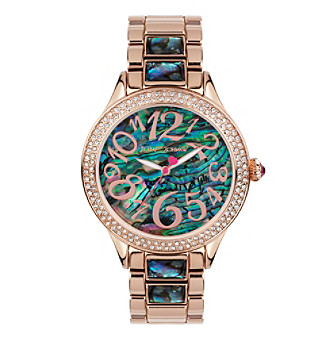 Betsey Johnson® Abalone Shell Bracelet Watch