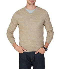 Nautica® Men's Big & Tall Snowy V-Neck Sweater