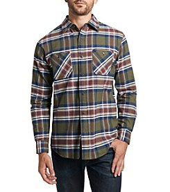 Weatherproof® Men's Long Sleeve 2-Pocket Plaid Button Down Shirt