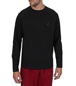 Nautica® Men's Top Dye Long Sleeve Crew Neck Sleep Shirt