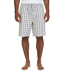 Nautica® Men's Tan Plaid Sleep Shorts