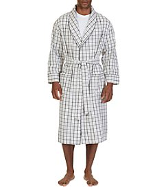 Nautica® Men's Tan Plaid Robe
