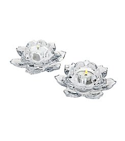 Godinger® Set of Two Lotus Votive Candle Holders