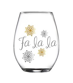 Crystal Clear® Fa La La Stemless Glass