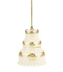 Lenox® 2016 Our 1st Christmas Cake Ornament