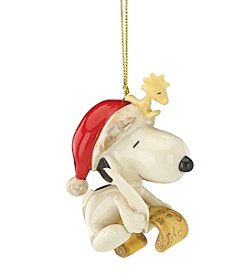 Lenox® Snoopy's List For Santa Ornament