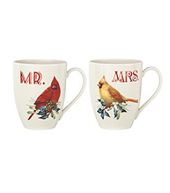 Lenox® Winter Greetings Mr & Mrs Mugs Set
