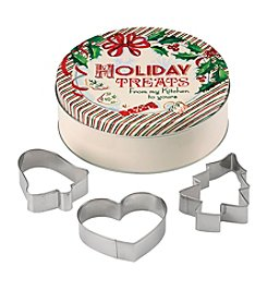 Lenox® Holiday-Round Tin With Cookie Cutter