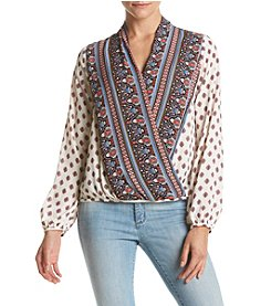 Eyeshadow® Surplice Peasant Top