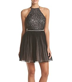 Trixxi® Sequin Chiffon Dress