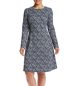 MICHAEL Michael Kors® Plus Size Printed Zip Flare Dress